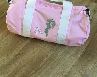 Weekend travel bag Duffel child with name