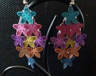 """Medley flowers"" earrings 6 cm"