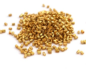10G of seed beads tubes gilded glass 2, 5x2mm