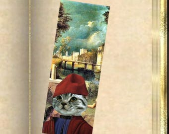 Set of two bookmarks with cat: cat and the storm