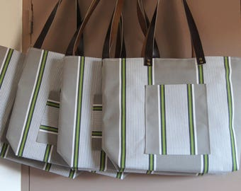 """Style shopper bag tote bag, recycled, """"Lounger"""" textile collection"""