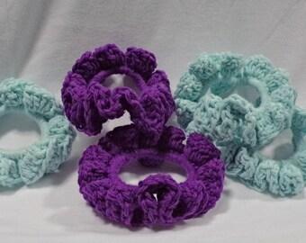 Hand Made Crochet Hair Scrunchie, Hair Tie