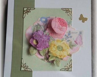 "birthday card ""3d flower"""