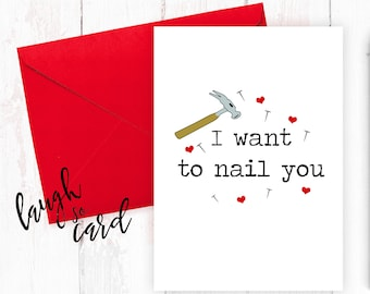 Funny valentine's card, Boyfriend Card, girlfriend card, funny, rude cards,Anniversary, for him, wife, husband