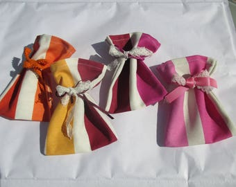 set of 4 scented sachets to fill with Lavender or sweets, gift
