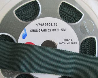 Ribbon green grosgrain 2.6 cm in width