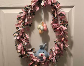 Easter Egg Rag Wreath