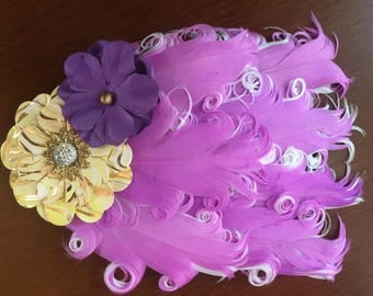 Feather Headband - Pale Purple