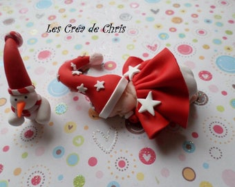 "baby girl theme ""Christmas"" polymer clay."