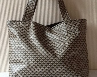 Japanese fans coated cotton tote bag