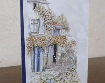 Quaint little house with flowers