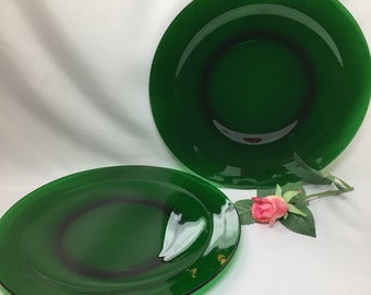 Serving Platter Anchor Hocking Forest Green