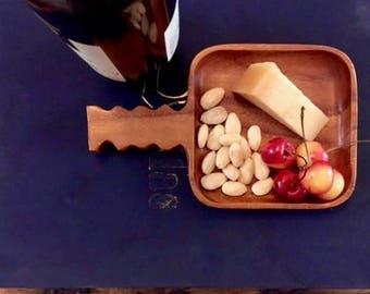 tray, appetizer tray, wood, monkey pod, unique