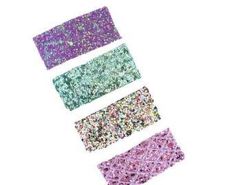 Snap Clips, Snap Clip Set, Purple snap clip, Glitter Snap Clip, Aqua Snap Clip, Set, Snapclip