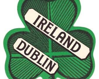 Vintage Style Dublin Ireland  Travel Decal sticker