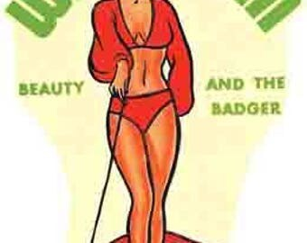 Vintage Style pin-up girl  WI Wisconsin Travel Decal sticker