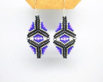 Japanese Pearl woven diamond earrings