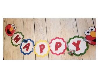 Elmo Sesame Street Birthday Banner