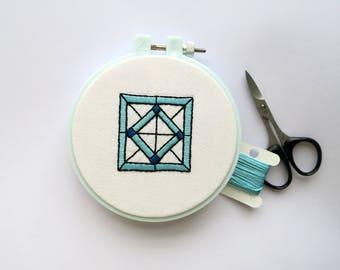 Stained Glass Window Embroidery