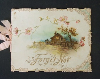 The Art Lithographic Publishing Company Early 1900's 'Forget Not' Booklet..