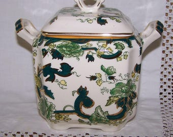 Masons Ironstone Chartreuse Tea Caddy
