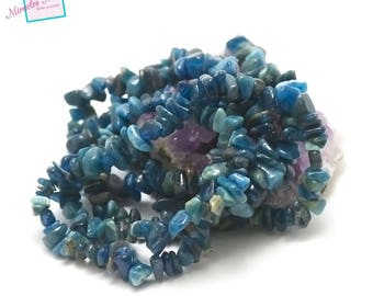 """84 cm approx 440 thread """"chips"""", natural gemstone apatite beads"""