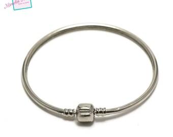 1 Bangle with closure clip No. 1, silver