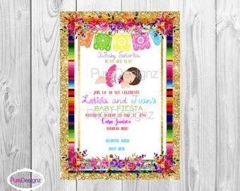Mexican Baby Shower Invitation, Frida Kahlo Invitation, Baby shower Frida Invitation