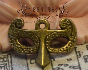 Set of 10 QDW203 pendant, Bronze, mask