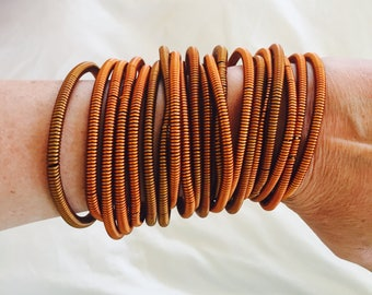 Rose gold / Copper Wired Bangles