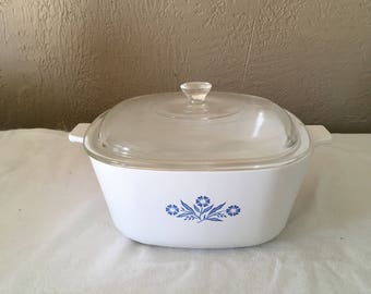 Corning ware blue and white