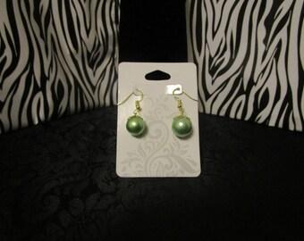 Light Green & Gold Earrings