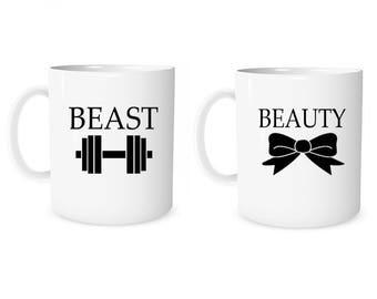 Custom Mug Personalized Mug Beauty Beast  Mug Coffee Mug Beauty  Mug Beast  Mug Anniversary Mug Wedding Mug Valentine Mug  Couple Gift