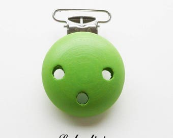 Clip / wooden pacifier Clip, from 25 mm: Green