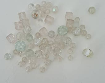 lot clear tones beads different shapes