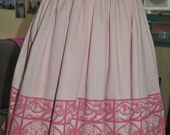 50s style hand screen printed skirt
