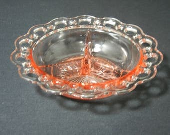 "Old Colony 7 1/2"" 3 Part Relish Dish"