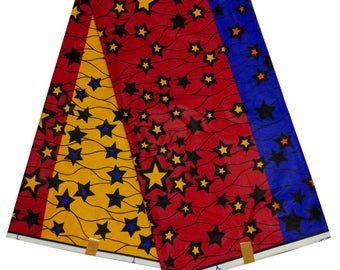 Ankara color combo wax print / java / African print/ STAR