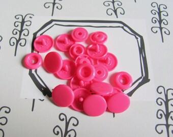 5 snaps Color Snaps circles - pink