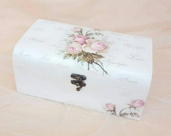 Jewelry storage box Jewelry holder white Jewelry box wood  Box wooden storage Storage box decorative Jewelry storage holder Jewelry box