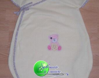 Teddy bear flower sleeping bag