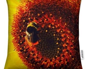 Sunflower & Bee - Cushion Cover 45 x 45cm