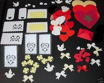Set of 100 punches: love theme