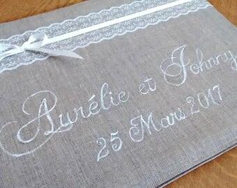 Gold wedding - Invitation design - No. 3 linen book