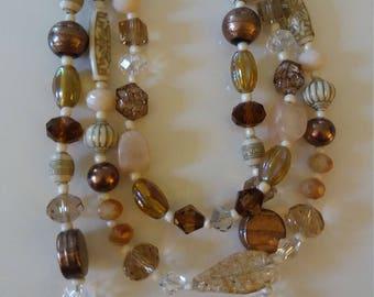 Jewelry Gold and Cream Set