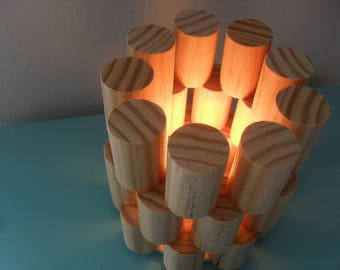 contemporary lamp / natural wood lamp / desktop lamp / table lamp / bedroom lamp / modern lamp