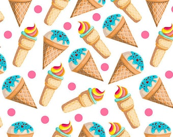 ORIGINAL design, durable and WASHABLE PLACEMAT - treats, small ice cones - classic.
