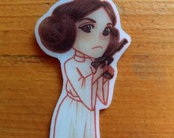 Handmade Princess Leia Star Wars keychain