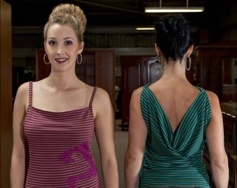 """""""Bi-goût"""": tank top with stripes and lace"""