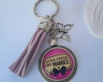 Stunning handmade ❤ the sweetest of grandmas key Rose mauve ❤ gift ❤